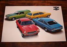 Vintage NOS 1972 CHEVROLET Vega DEALERSHIP Chevy Dealer Showroom Poster