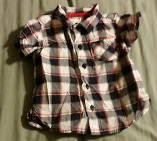 Carters Blue Plaid Shirt Boys Size 6 Months