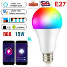 B22 WiFi RGB Smart LED Light Bulb 15W APP Remote Control FOR Google Alexa Home