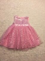 Nanette Birthday Party Dress Baby Pink and Silver Sparkle 18m