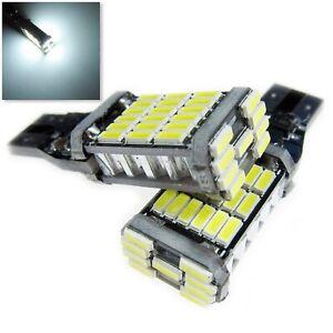 UK 2x T15 ( T10 base ) CAR ULTRA BRIGHT LED CANBUS W16W 194 BULB SIDE LIGHT 12v
