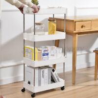 Storage Rolling Cart With 2/3 Tier Shelf Trolley Home Kitchen Organizer Rack