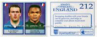 "RARE !! Sticker n°212 BLANC-DESAILLY ""ENGLAND 1998"" Panini Merlin"