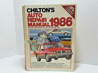 Chilton's Auto Repair Manual 1986 Domestic/Canadian Cars 1979-1986