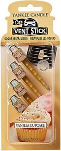 Yankee Candle Car Air Freshener -Vanilla Cupcake  Car Vent Stick 4 PACK
