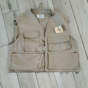 Orvis Khaki Lightweight 8-Pocket Snap-Up Fly Fishing or Photography Vest, XL