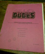 Data East BAD DUDES Arcade Video Game Manual- good used original