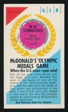 1976 McDonald's Olympic Medals Game Card -GYMNASTICS (Horizontal Bars) *TOUGH*