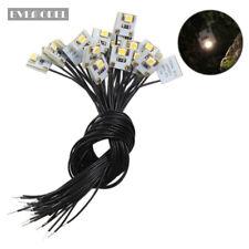 DD00WMDE NEU 20 Stk. LED Hausbeleuchtung 10x10mm warmweiss mit Kabel 20cm 12-18V