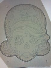 Flexible Resin Or Chocolate Candy Mold Girl Female Sugar Skull Day Of The Dead