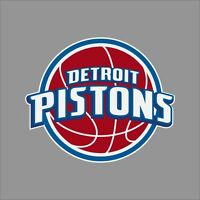 Detroit Pistons NBA Team Logo Vinyl Decal Sticker Car Window Wall Cornhole
