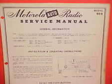 1950 DODGE CORONET PLYMOUTH DELUXE CONVERTIBLE MOTOROLA AM RADIO SERVICE MANUAL