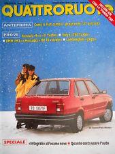 Quattroruote 376 1987 Nuova Fiat Duna. Lamborghini Jalpa. Volvo 780 Turbo [Q.13]