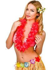 Hawaii PARTY Corallo Rosa Petalo Fiore Ile HULA COSTUME GHIRLANDA Collana 9.5 cm