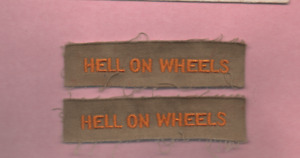 2 VINTAGE HELL ON WHEELS PATCHES