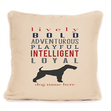 More details for gift for dog airedale terrier personalised cushion best present for dog lovers