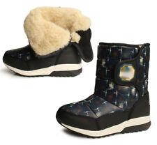 Kids Boys Girls Mid Calf Waterproof Snow Boots Fleece Lined Warm Wearable Shoes