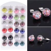 12 Pair Wholesale Lot Fashion Stud Bulk Earrings Set Studs Girls Children Women