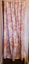 Pair of Vintage Reproduction Toile Curtains