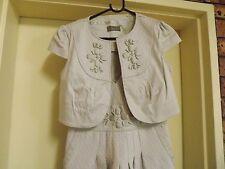 Jacqui E Stunning Beaded Dress & Matching Jacket sz 8