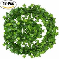 12pcs/Pack Artificial Ivy Vine Plant for Wedding Garland Fake Foliage Flower 2m