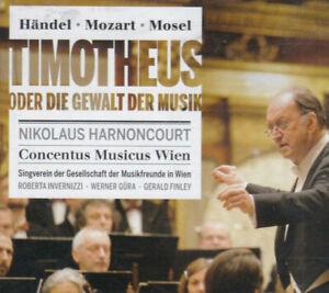 HANDEL/Mozart TIMOTHEUS  2 cds HARNONCOURT  live 2012 Wien