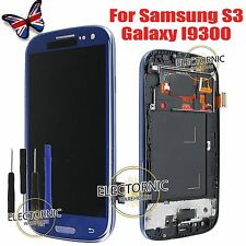 For Samsung Galaxy S3 I9300 LCD Display Digitizer Touch Screen Frame SIII Blue