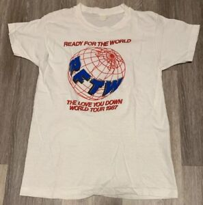 Vintage Ready For The World T-shirt 1987 Tour Love You Down Soul R&B Kanye