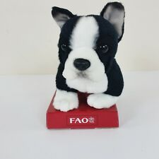 "Fao Shwarz Mini Bulldog Puppy Dog Plush Black & White 6"" Stuffed Toy Toys R Us"