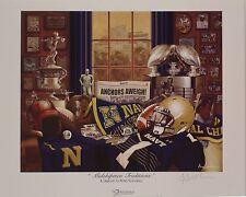"""Navy football """"Midshipmen Traditions"""" signed print by Greg Gamble"""