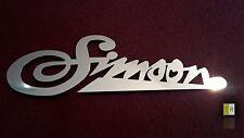 EDELSTAHL Simson Emblem - Logo poliert für SR1, SR2, AWO, S51 und KR51