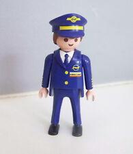 PLAYMOBIL (C226) AEROPORT - Commandant de Bord Pilote Avion Jet Aeroline 3185