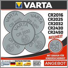 Varta 1,5-3V z.B. CR1620 CR2025 CR2032 CR2430 CR2450 LR54 und andere Batterien