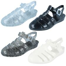 Spot on ladies Synthetic wedge jelly shoes 4 Colours F10320