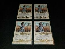 MTG 4x Revised white uncommon LP/MP Italian FBB Swords to Plowshares - signed