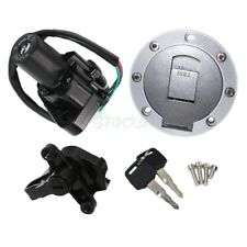 Ignition Switch Fuel Gas Tank Cap Seat Lock Set Fit For Yamaha YZF1000 1997-1998