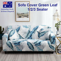 Sofa Cover Green Leaf Couch Covers 1 2 3 Seater Lounge Slipcover Protector