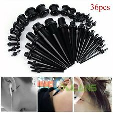 36pcs Acrylic Ear Plug Taper Kit Gauges Expander Stretcher Stretching Piercing