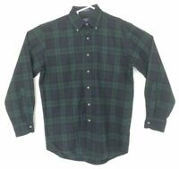 Pendleton Men's 100% Pure Virgin Wool Long Sleeve Blackwatch Tartan Shirt Size S