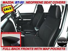 MAZDA BT-50 MK1(UP) FULL COVERAGE FRONT NEOPRENE SEAT COVERS WITH MAP POCKET X 2