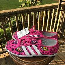 NEW! US Size 8.5 Adidas Jeremy Scott P Sole Graphic Pink Plimsole M18994