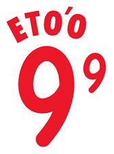 Cameroon ETO'O Nameset 2002 Shirt Soccer Number Letter Heat Print Football A