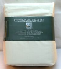 Performance Sheet Set by Threshold 400 Thread Count Queen 100% Cotton Beige NEW