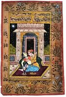 Indian Mughal Badshah Doing Sex With Begum Handmade Miniature Artwork #7650