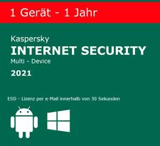 Kaspersky Internet Security 2021 1 PC / 1 Jahr !NEU! EU Version