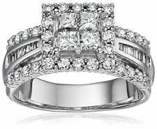 14k White Gold Diamond Princess Center Engagement Ring 2CTTW Size 6 SJL