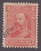 Newfoundland 1897-01 #81 Royal Family (King Edward VII) F Used