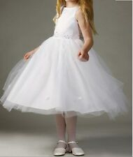 CLOSEOUT FLOWER GIRLS WEDDING PAGEANT WHITE  DRESS SIZE 2 TO 12