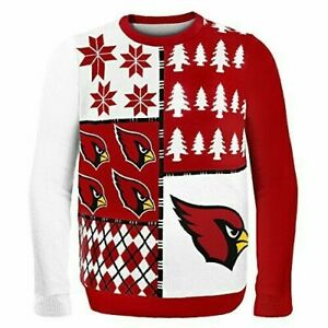 NFL Arizona Cardinals FOCO Busy Block Ugly Christmas Sweater Mens XL ~ NWT