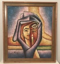 Modern cubist / surrealist painting by Benjamin (Benyamin) Long. Vibrant colors